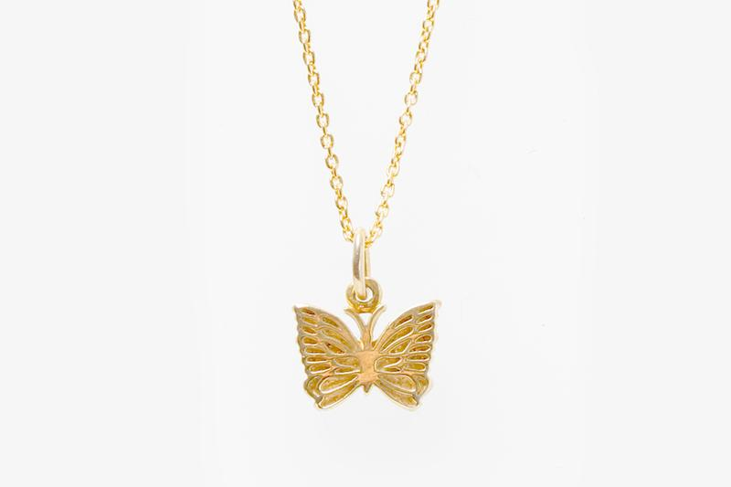 NEEDLES Fall Winter 2019 Jewelry nepenthes necklaces rings peace sign butterfly steve mcqueen gold silver 18k karat plated chains smiley face pendant engraved keizo shimizu