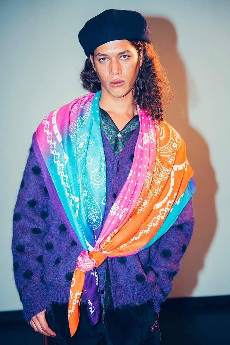 Noma t.d. x NEEDLES Fall Winter 2019 Scarves ties accessories headwear neck silk nepenthes keizo shimizu babushka colorful ties paisley bandana paisley americana Japanese