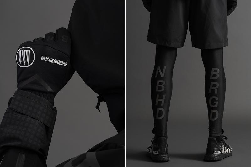 NEIGHBORHOOD adidas Fall Winter 2019 Run City Pack Full Look Jacket windbreaker shorts pants tights mask gloves t shirt long short sleeve shirt Consortium UltraBOOST ATR 19 black Release info Date