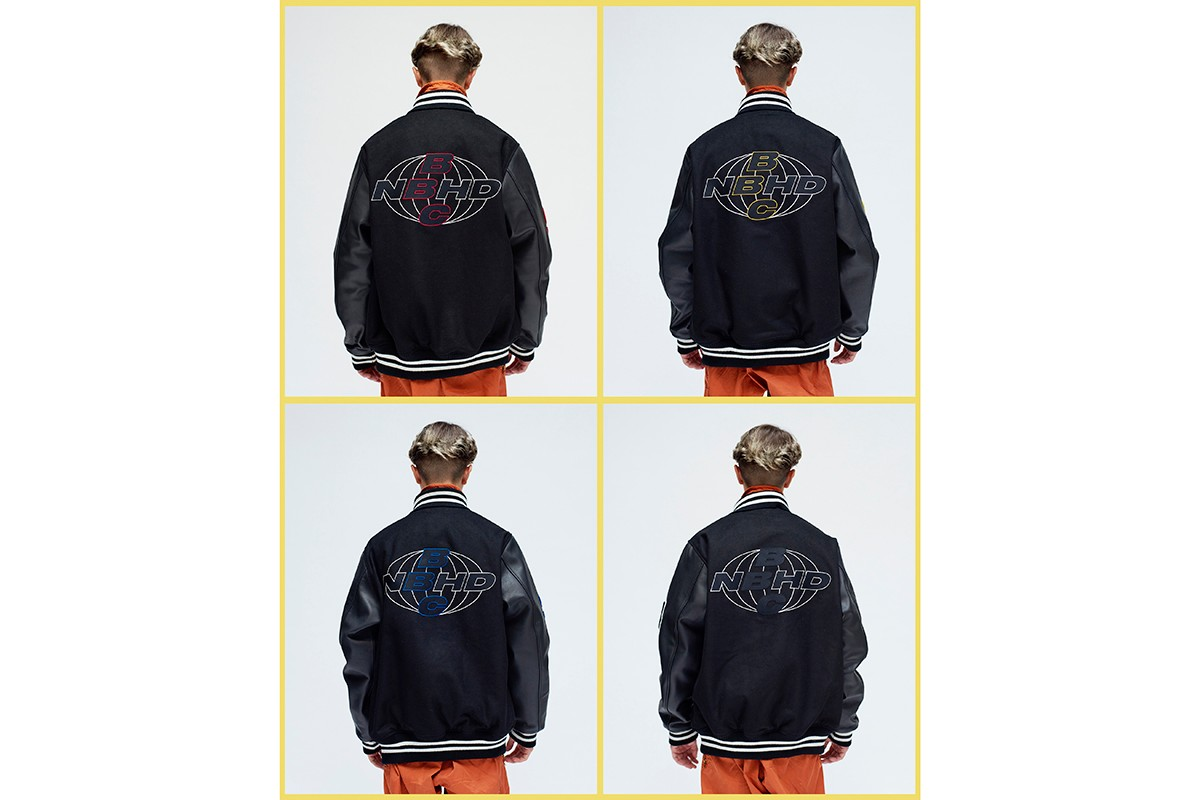 NEIGHBORHOOD x Billionaire Boys Club London Capsule Collection Collaboration Tokyo Store New York Pharrell Williams Japanese Streetwear Varsity Jackets Hoodie T-Shirt Release Information First Look Lookbook Fall Winter 2019 FW19