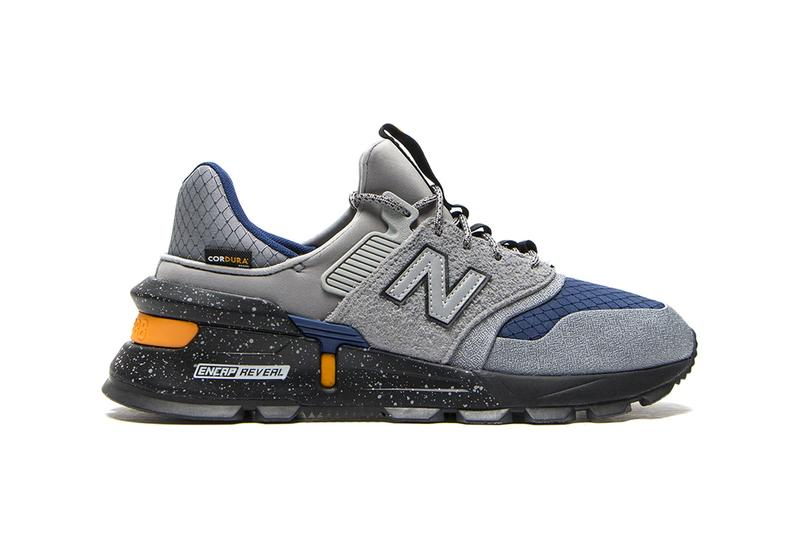 "New Balance MS997SC ""Sport Steel/Techtonic Blue"" blue grey cordura ENCAP REVEAL ABZORB n logo hi tech suede footwear sneakers shoes runners trainers"