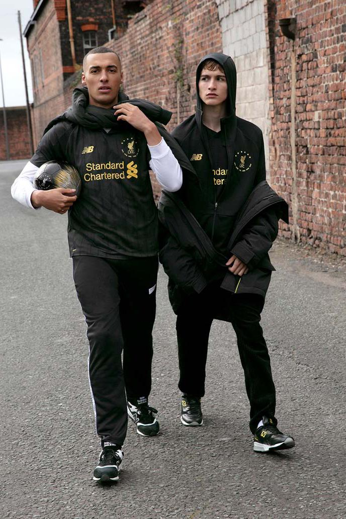 "Liverpool's ""Six Times"" Black Collection new balance football soccer kits limited edition European champions"