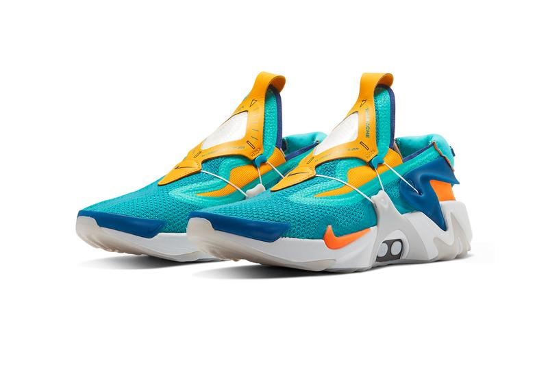 nike adapt huarache hyper jade total orange self lacing bv6397 300 release date info photos price