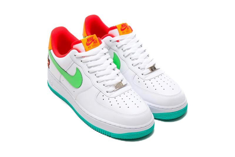 Nike Air Force 1 07 LE Shibuya sneakers footwear shoes runners trainers train routes eki shibuya station city tokyo densha holiday 2019 season Christmas festive WHITE GREEN NEBULA HABANERO RED KUMQUAT