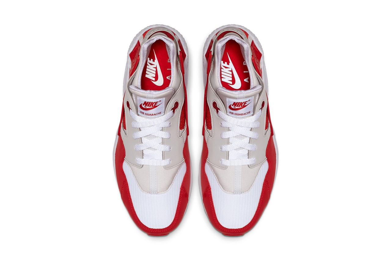 nike dna pack 87 91 air huarache max 1 varsity red anniversary pack scream green release date info photos price ar9863 900