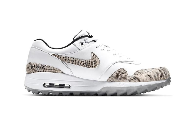"""Nike Air Max 1 G NRG Snakeskin """"White/Atmosphere Grey"""" First Look Icy Grey Outsole Swoosh Clear Bubble Integrated Traction Pattern Cop Online Release Date Information"""