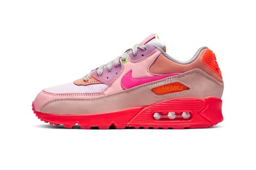 "Nike Dresses the Air Max 90 PRM in Bright & Bold ""Platinum Crimson/Bright Purple"""