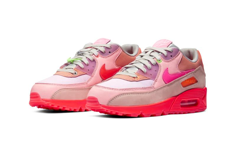 Nike Air Max 90 PRM Platinum Crimson Bright Purple Release Info Date Buy