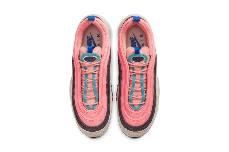 nike air max 97 98 corduroy CQ7512 046 462 desert sand light blue CQ7513 044 814 thunder grey amber rise release date info photos price