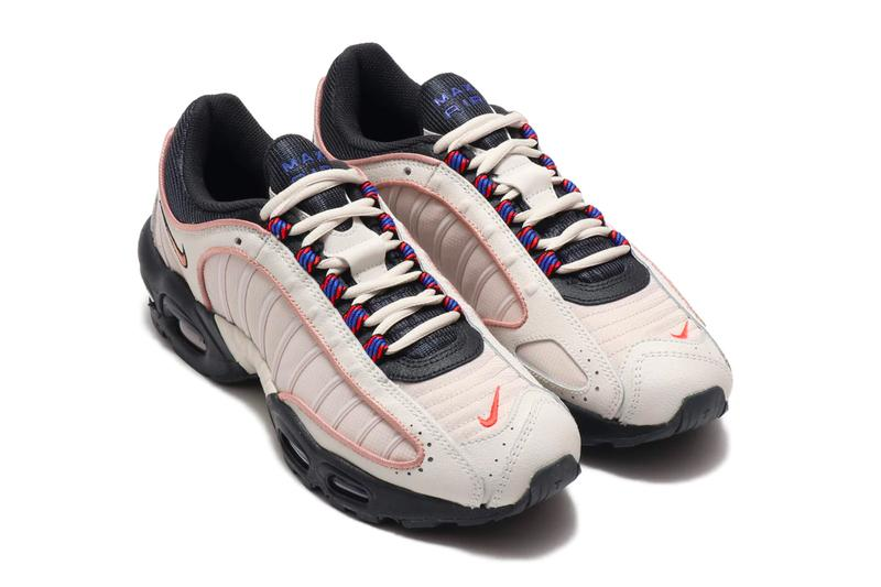 Nike Air Max Tailwind IV SE  Phantom Desert Sand MTLC RED BRONZE fall winter holiday 2019 cj9681 001 navy red sneakers footwear shoes trainers runners 1990 retro swoosh
