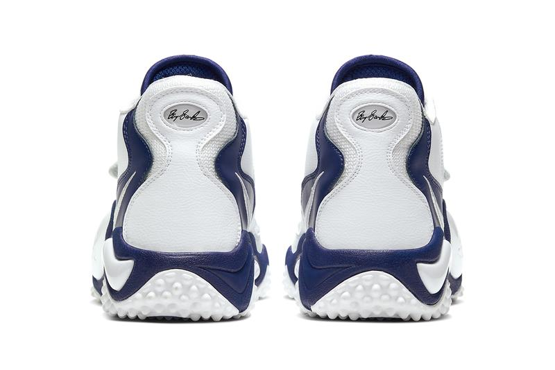 nike air zoom turf jet 97 barry sanders detroit lions thanksgiving white deep royal blue CW6680 100 release date info photos price