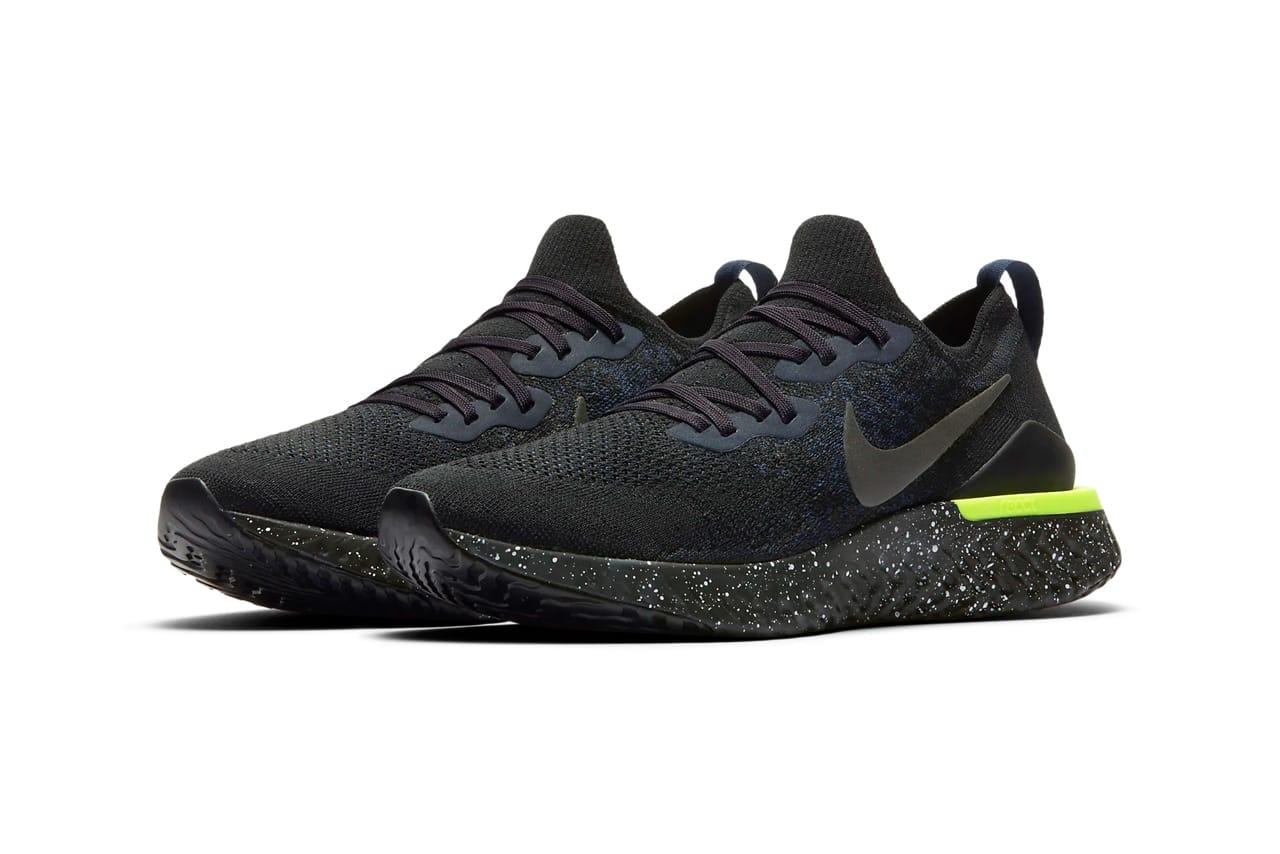 Nike Epic React Flyknit 2 Black/Sequoia
