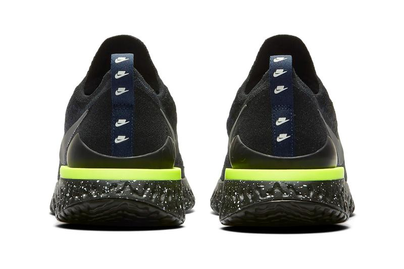 nike epic react flyknit 2 se black sequoia green mountain white sneakers release