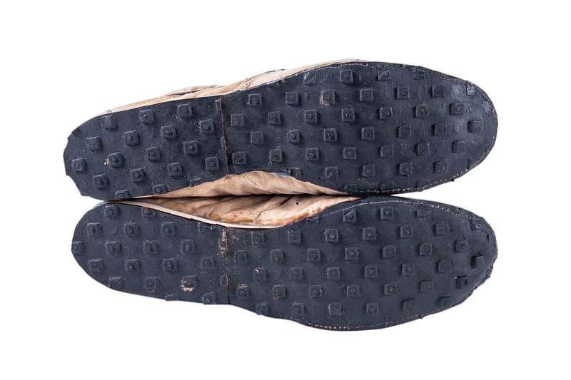 """Nike """"Moon Shoe,"""" Oregon Jersey Auction $100,000 USD price bid Goldin Auctions sneaker singlet december 7 2019 sale original bill bowerman waffle sole"""