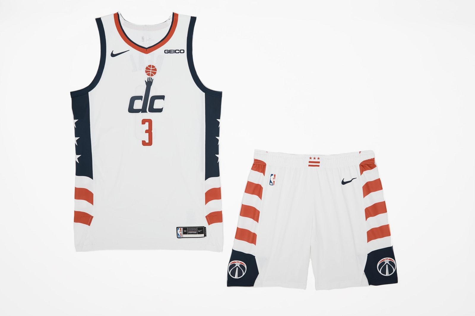 Nike Unveils 2019-20 NBA City Edition Jerseys basketball Chicago bulls toronto raptors golden state warriors Detroit pistons