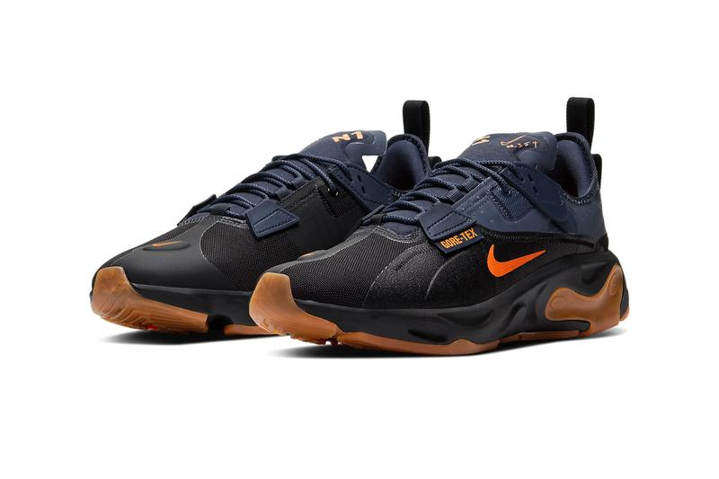 Nike React Type GTX Black Light Carbon thunder gray Bright Ceramic shoes sneakers footwear trainers runners gore tex waterproof reconstructed swoosh BQ4737-001