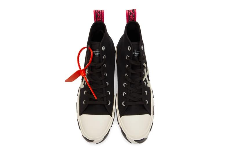 Off White Arrows Mid Top Sneaker Release Yellow White Black Info Date Virgil Abloh