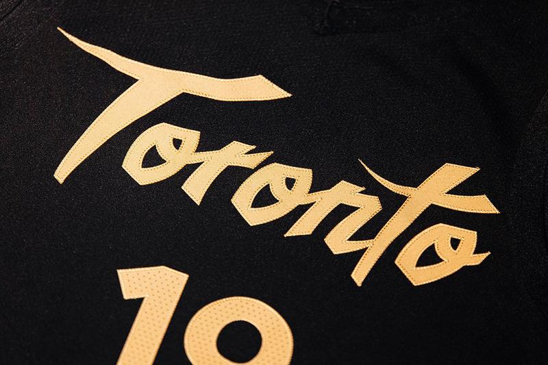 OVO Unveils Toronto Raptors' City Edition Uniform october's very own basketball nba 2019 champions drake black gold sunlife