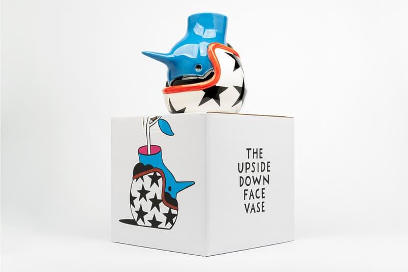 Case Studyo x Parra 'The Upside Down Face Vase' Bird Human Stunt Helmet Blue Red White Black Stars