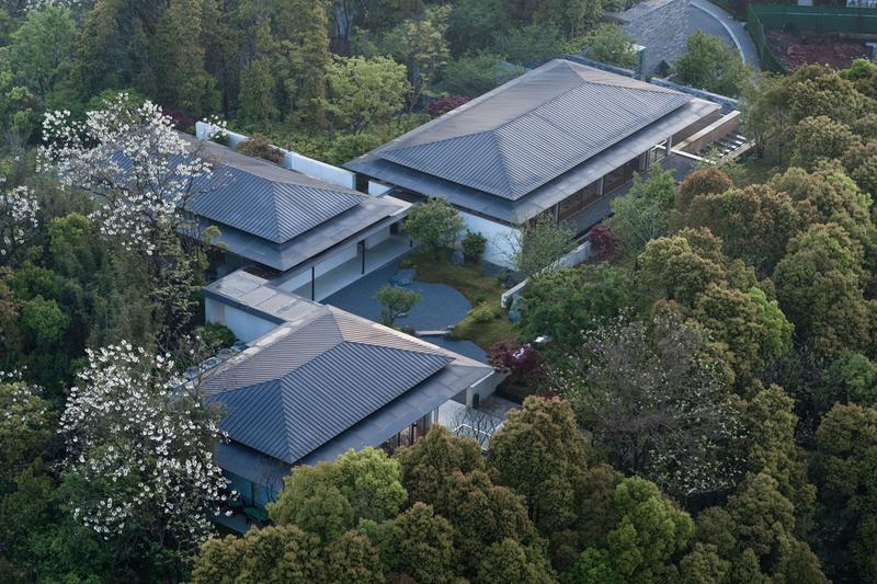 Greentown Yiwu Peach Blossom Land Living Experience Centre Hangzhou 9M Architectural Design Co. Yiwu, China 'The Peach Blossom Spring' Tao Yuanming