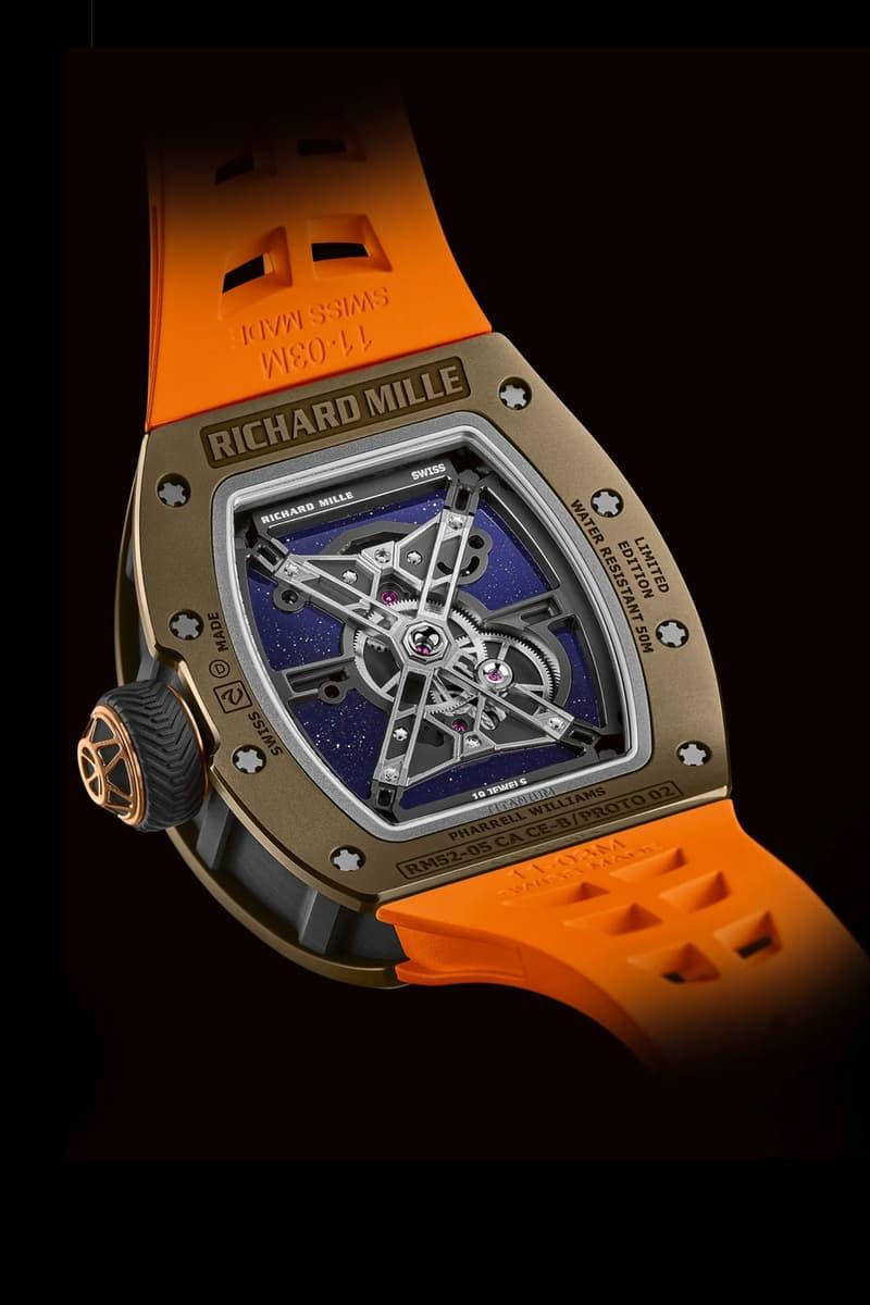 Pharrell Williams x Richard Mille RM 52-05 Watch Info AP audemars Piguet