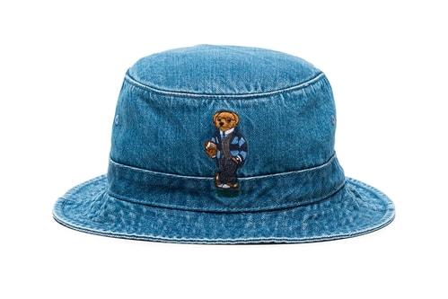 Polo Ralph Lauren Offers a Teddy Bear Embroidered Denim Bucket Hat