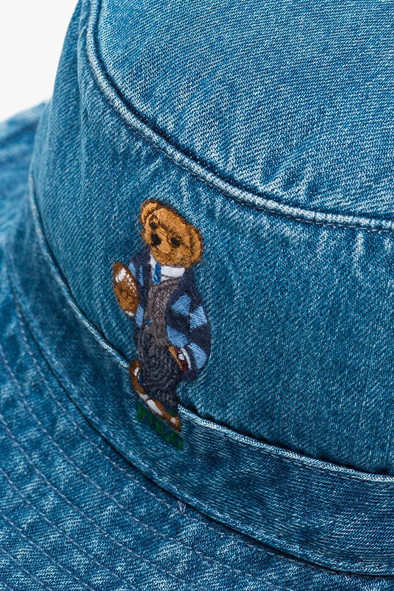 Polo Ralph Lauren Blue Teddy Bear Embroidered Denim Bucket Hat Release browns brownsfashion Black Friday cyber Monday