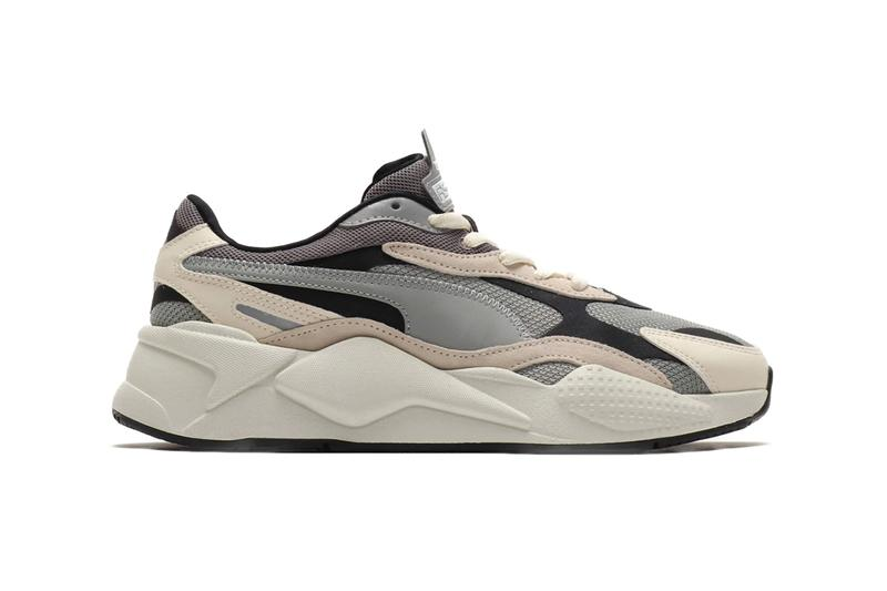PUMA RS X3 Puzzle Love Char Rose Limestone black eva mold sneakers trainers footwear shoes runners three dimensional sidestripe spring season 2019 collection multi panel sportswear