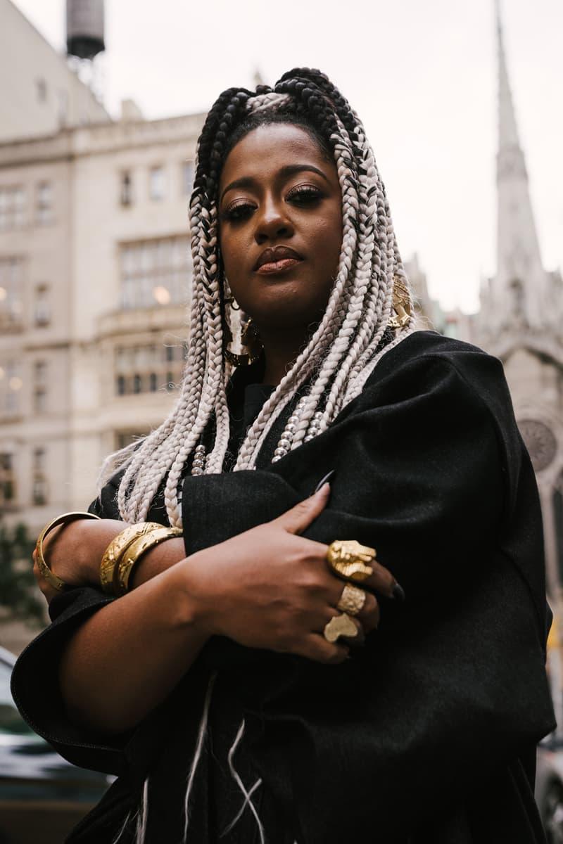 rapsody streetsnaps street style interview eve album new york tour opener big krit kimonos kimono