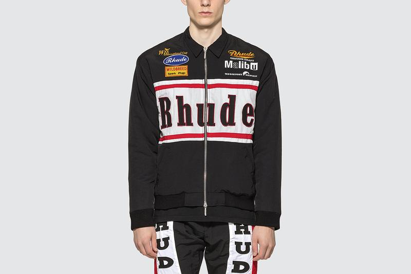 RHUDE Rhacing Jacket Fall/Winter 2019 Racing Motifs Embroidered Patches Rhuigi Villaseñor Los Angeles Streetwear Brand Coats Zip Up Nylon Cuffs