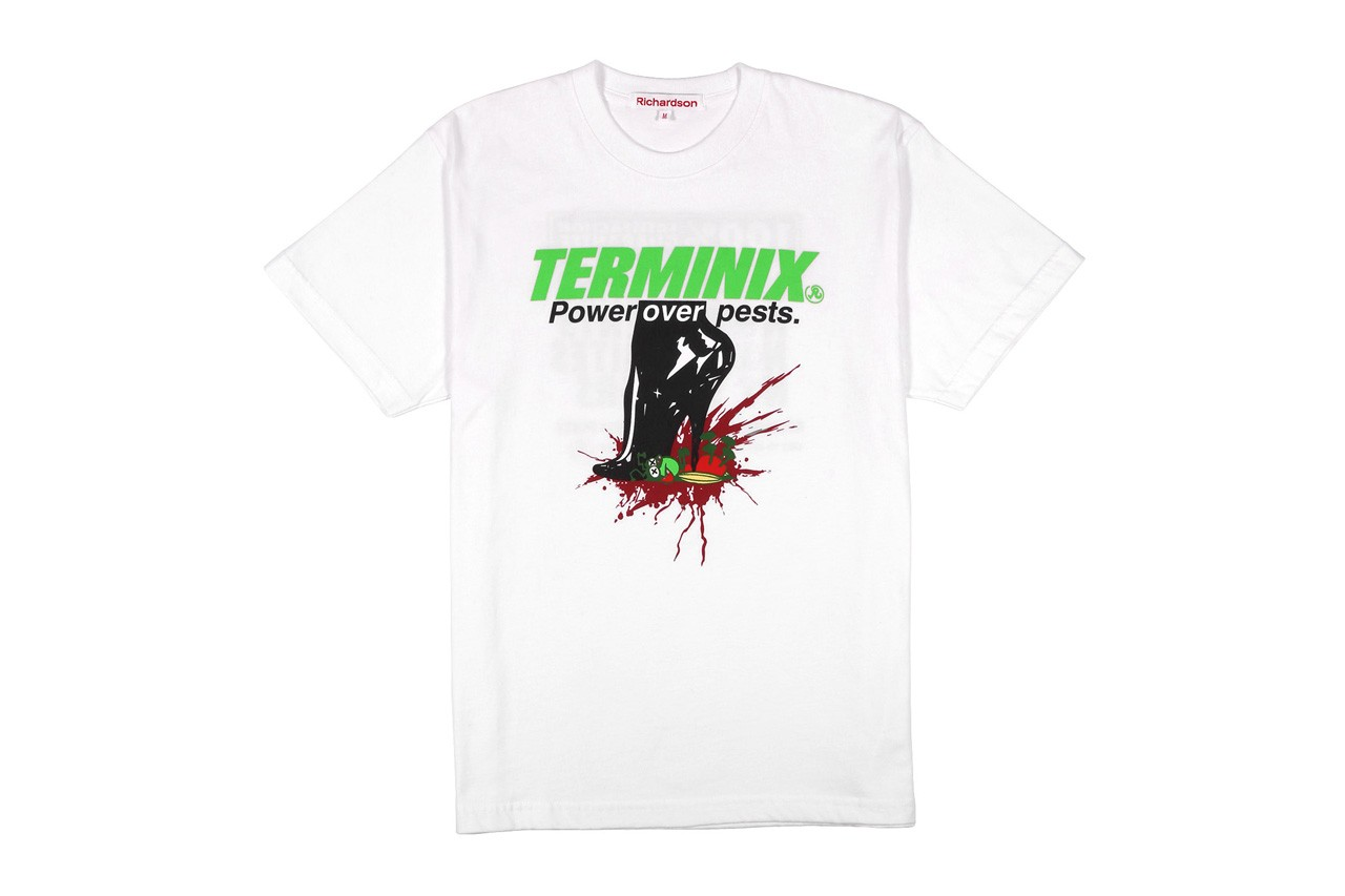 Terminix x Richardson Collection Release T-shirts Hoodies Bomber Jackets Bucket Hats Tote Bags Pepper Spray Stripes Green Red Orange Black White