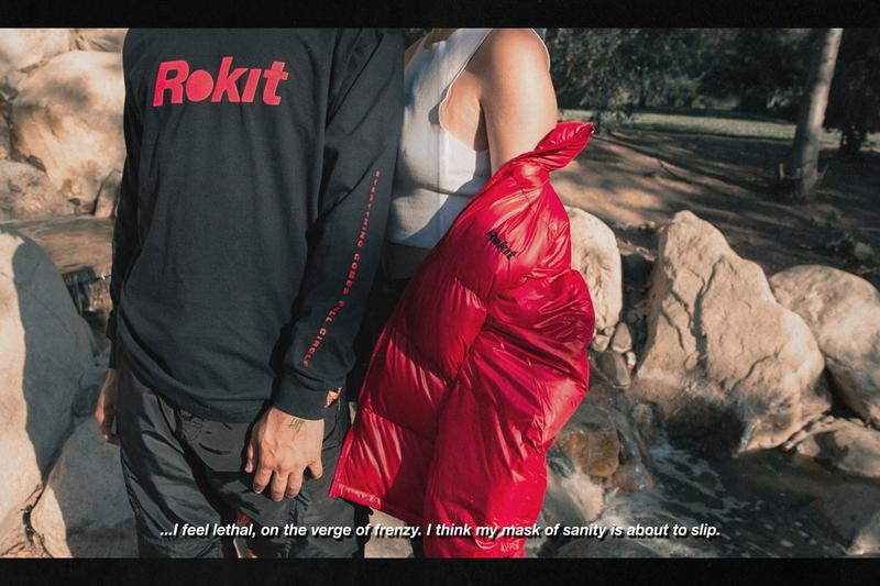ROKIT Holiday 2019 Collection Drop 1 Release Info Long Sleeves T-shirts Letterman Jackets Quarter Zips Vests Pants Black White Red Flames Basketball Hoop Puffer Jackets Notorious B.I.G.