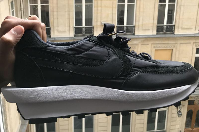 sacai & Nike Have a New LDWaffle on the Way black white leather suede first look collaborations sneakers