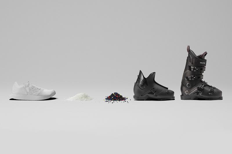 Salomon Sustainable Footwear Concept Unveiled First Look Running Shoes Transform Ski Boot Recyclable Circular Fashion Annecy Design Center TPU thermoplastic polyurethane