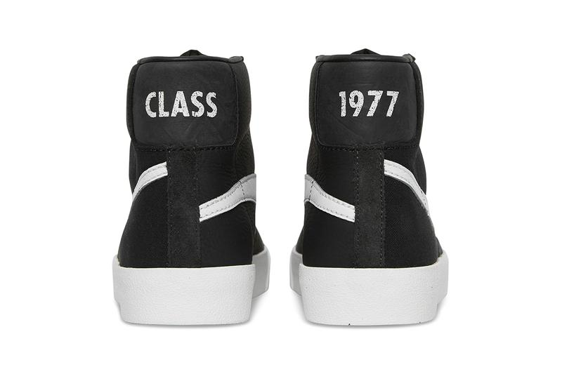 slam jam socialism nike blazer class of 1977 black upside down reversed swoosh release information raffle buy cop purchase sneakrs app how to limited edition