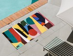 William LaChance Adds Vibrant Geometric Pattern to Slowtide's Beach Towel and Blanket