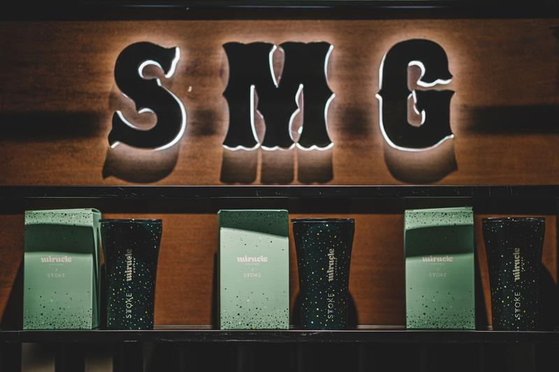 "SMG SMUDGE Store Shanghai Opening ""RESURGENCE"" FW19 Collection Miracle Coffee JJ Lin T-shirts Hats Jewely Necklaces Bracelets"