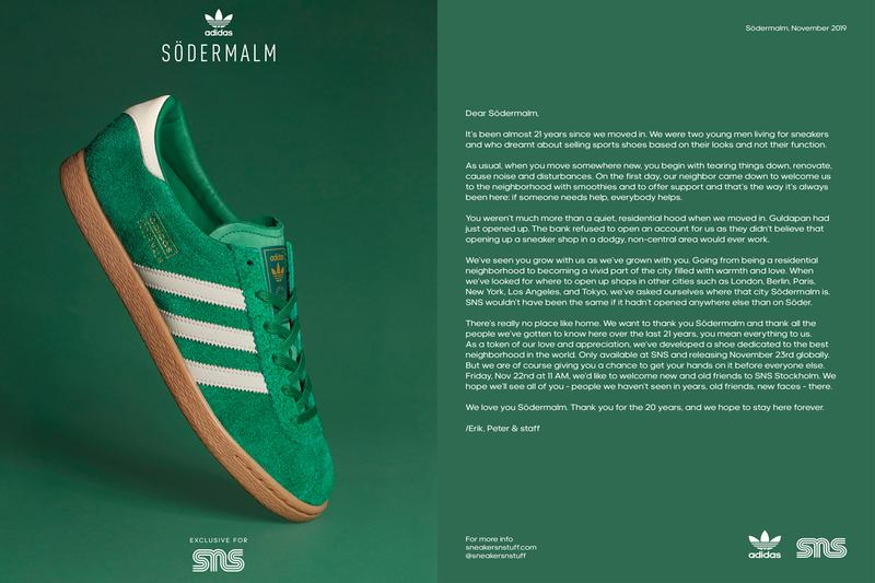 sneakersnstuff sns adidas originals stadt Sodermalm Fu9099 bold green footwear white gum 3 21st 21 years anniversary release date info photos price