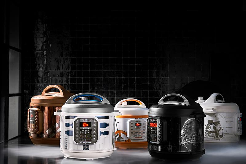 Star Wars Instant Pot Darth Vader R2D2 Chewbacca storm trooper bb-8 drone characters branded williams sonoma galaxy