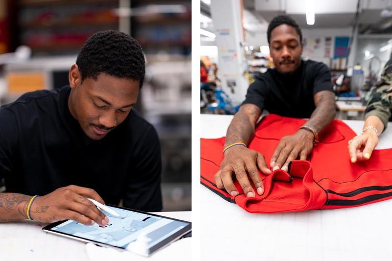 Stefon Diggs Interview Style fashion adidas Tracksuits Collection makers lab track suit minnesota viking nfl football wide receiver cleats clothing sneakers