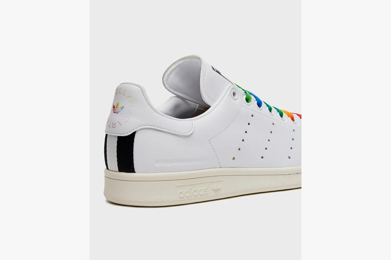 Stella McCartney adidas Stan Smith Sneaker Spring/Summer 2020 Rainbow Laces Portrait december 2 2019 release date info vegan vegetarian