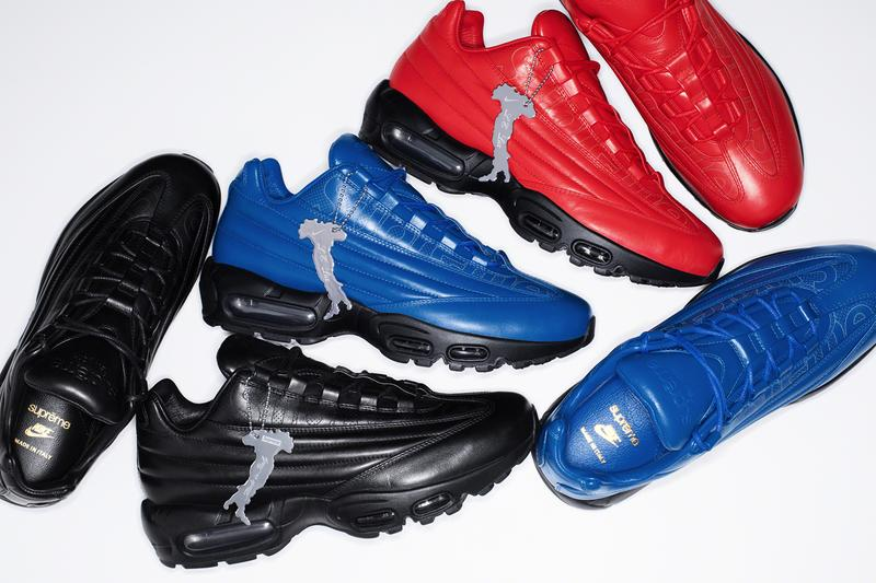 Supreme x Nike Air Max 95 Lux Info octavian lookbooks made in Italy Italian made leather shoes kicks sneakers footwear Supreme new york