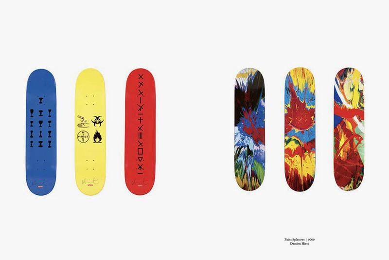 supreme skate decks boards art on deck book buy cop purchase byron hawes KAWS Damien Hirst Takashi Murakami Jeff Koons release information look inside buy cop purchae