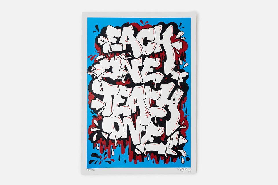 Graffiti Artist TEACH Joins maharishi for 'Each One Teach One' Print