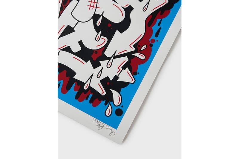 maharishi TEACH 'Each One Teach One' Screen Print Graffiti Blue Red Black White