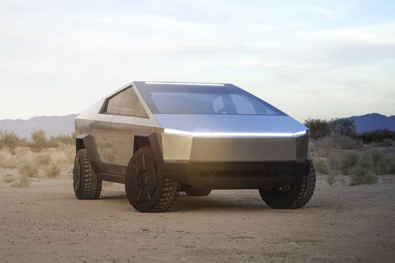 tesla elon musk cybertruck pick up truck announcement unveil electric vehicle cars EV Release Buy First Look official photos