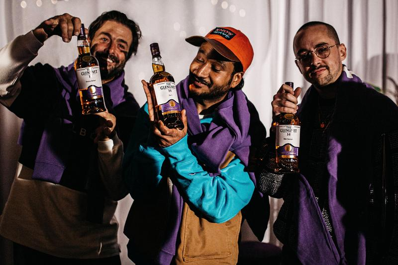 The Glenlivet 14 Year Old Events in L.A. and Miami Mike Cherman, Don C., Jaron Kanfer, Stephen Malbon Jaron Kanfer of UNKNWN, Simonett Pereira of Simonett, Alexis Quintero of Fruta de Dulcé and photographer Emmanuel Monsalve