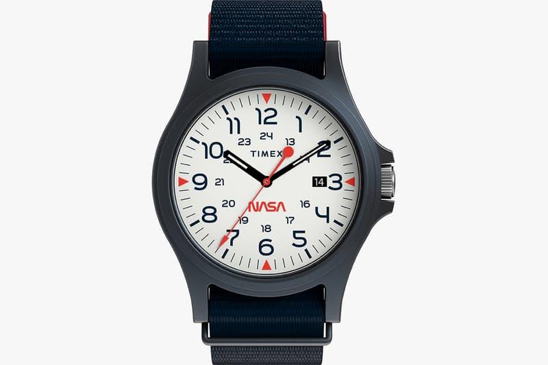NASA x Timex Navi XL Watch Release 41mm Fabric Strap Blue White