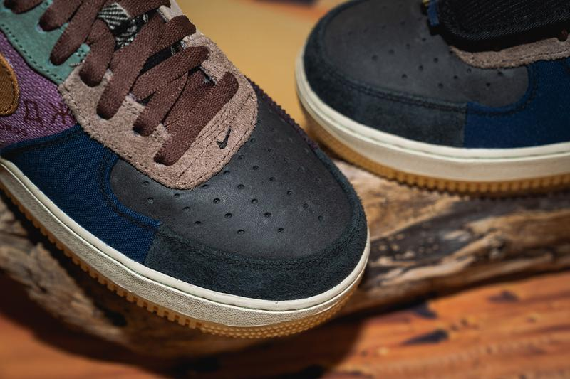 travis scott nike air force 1 cactus jack cn2405 900 closer look release date info photos price la flame sneaker collaboration model detail authentic