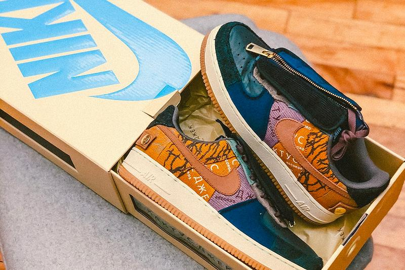 Travis Scott Nike Air Force 1 Cactus Jack Custom Box Release Info Date